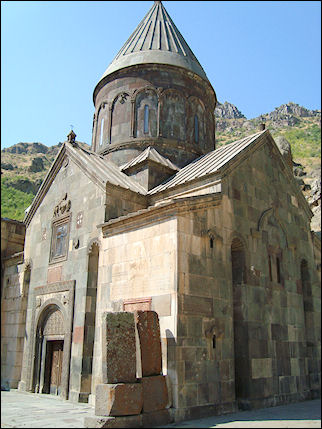 Armenia - Church in Geghard monastery compound