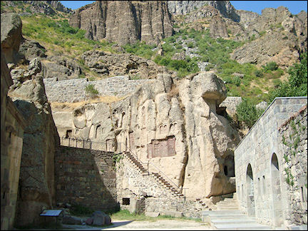 Armenia - Entrance rock church Geghard