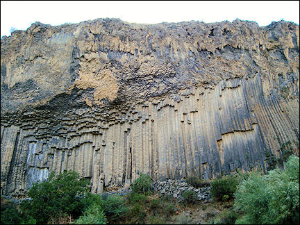 Armenia - Rockwall in the canyon