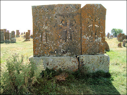 Armenia - Collection of khachkars in Noratus