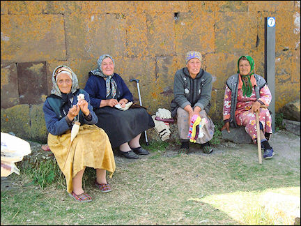 Armenia - Ladies with their knitting in Noratus