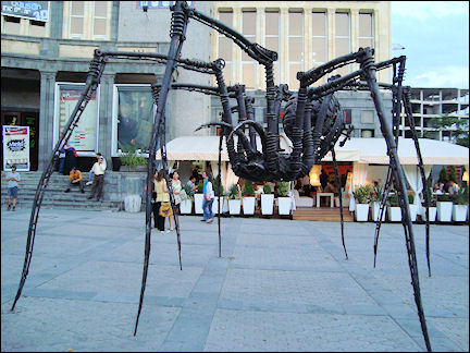 Armenia - Spider on the square near the Moscow Cinema