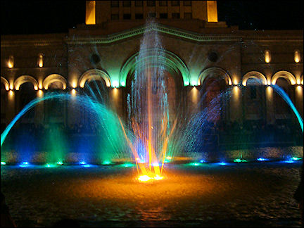 Armenia - Light show fountains, Square of the Republic
