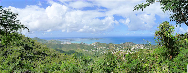 Leeward Islands, Sint Maarten - View from Pic Paradis