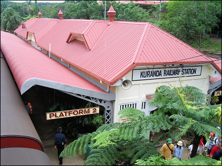 Australia, Queensland - Railway Station Kuranda