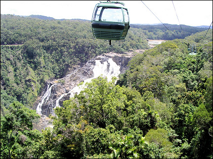 Australia, Queensland - Skyrail over Barron Falls