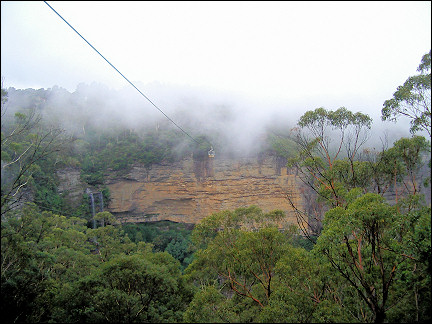 Australia, Blue Mountain - Cable lift