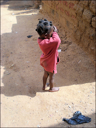 Burkina Faso - Child in street in old Bobo-Dioulasso