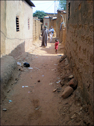 Burkina Faso - Bobo-Dioulasso, street in animist center