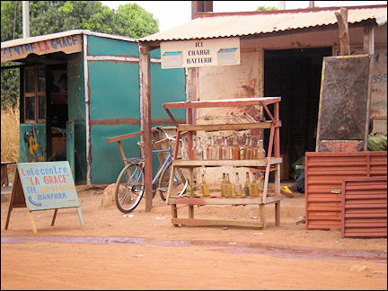 Burkina Faso - Banfora, battery-charge place