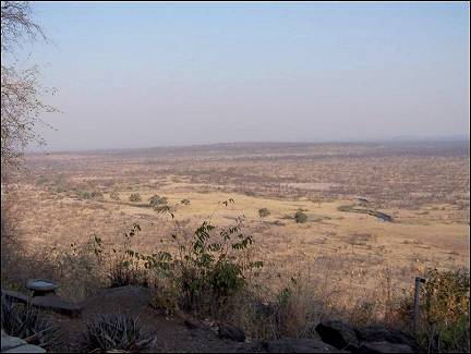Zimbabwe - View of Hwange National Park