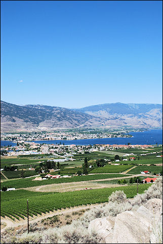 Canada, British Colombia and Alberta - Winegrowing around Osoyoos and Osoyoos Lake