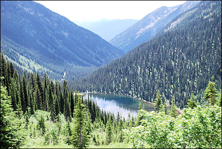 Canada, British Colombia and Alberta - View of Gibson Lake in Kokanee Glacier Provincial Park