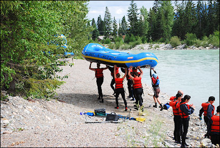 Canada, British Colombia and Alberta - Rafting on the Kicking Horse River