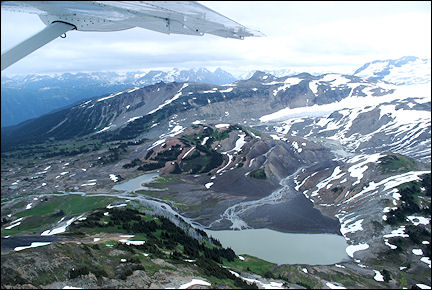 Canada, British Colombia and Alberta - View of Whistler from water plane
