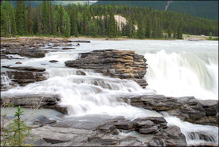 Canada, British Colombia and Alberta - Athabasca Falls along the Icefield Parkway