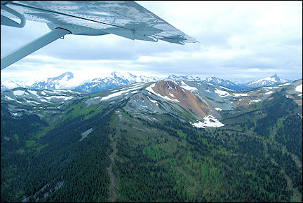 Canada, British Colombia and Alberta - View above Whistler vanuit watervliegtuig