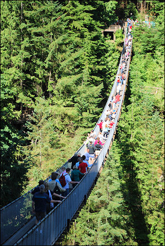 Canada, British Colombia and Alberta - Capilano Suspension Bridge in Vancouver