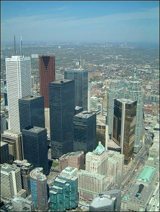 Canada - Toronto, view from the CN tower