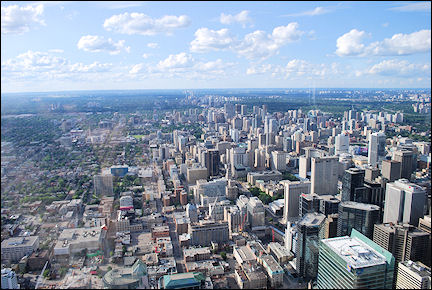 Canada, Ontario - View of Toronto from CN Tower