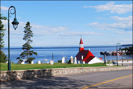 Canada, Quebec - Wooden church near port of Tadoussac