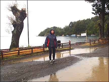 Chile - Rain shower cleans out the dust at Lago Calafquén