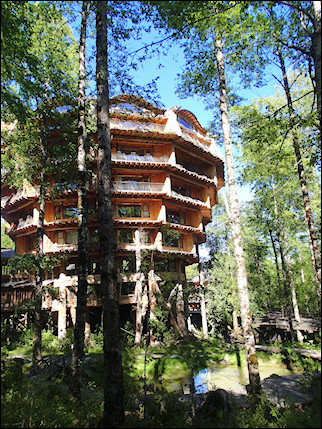 Chile - Hotel Nothofagus, also known as Hotel Baobab