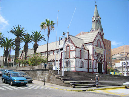Chile - Arica, church designed by Eiffel