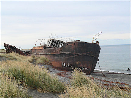 Chile - Ship wreck in the Strait of Magellan