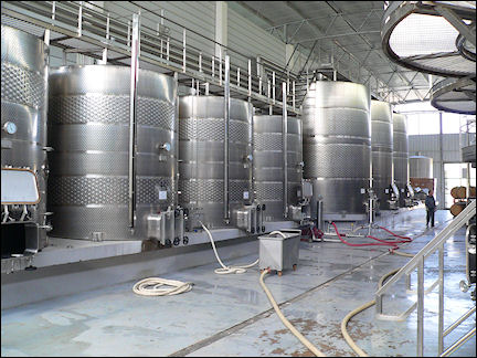 Chile - State-of-the-art wine tanks in Casablaca