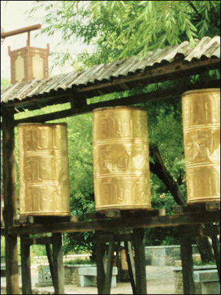 China, Yunnan - Shuhe Old Town Prayer Wheels