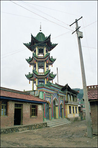 China, Sichuan - Mosque in Langmusi