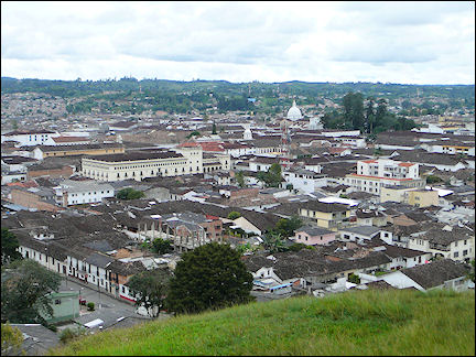 Colombia, Popayán - view from the hilltop of El Morro