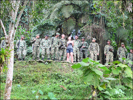 Colombia, Cuidad Perdida - Military camp near the Lost City