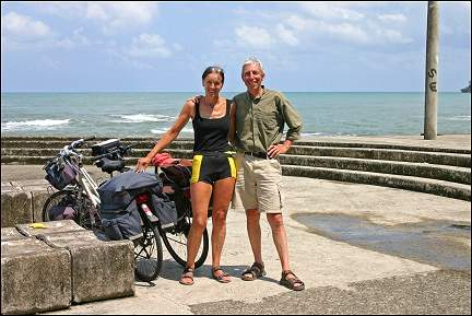 Costa Rica - Gerrie and Aart on the Carribean