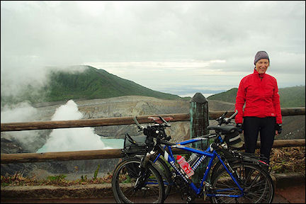 Costa Rica - We made it to the top of the Poás at 2,700 meters