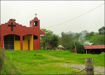 Costa Rica - Churches everywhere and they're all different