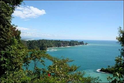 Costa Rica - View from observation point in Manuel Antonio NP