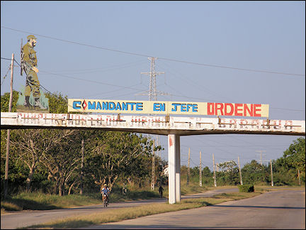 Cuba - Viaduct with revolutionary slogans