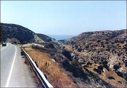 Cyprus - Descent to coast near Petrou tou Romiou