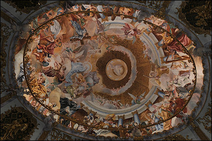 Germany, Bavaria - Weltenburg, Ceiling with fresco of celestial Jerusalem