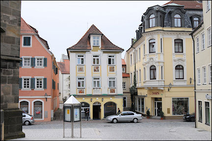 Germany, Bavaria - Ansbach, birth house of the poet Friedrich Wilhelm Güll