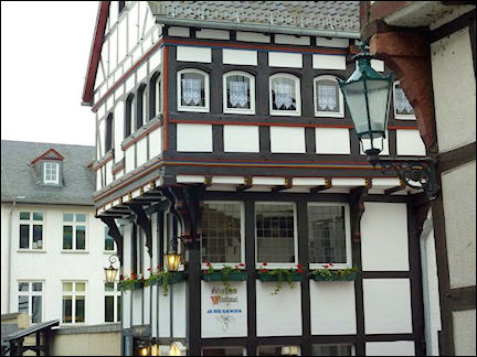 Germany, North Rhine-Westphalia - Timber framing Tor Bad Münstereifel
