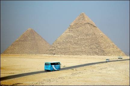 Egypt - Gizeh, pyramids of Cheops and Chephren