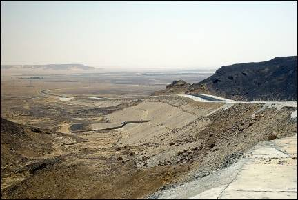 Egypt - Road through the black desert