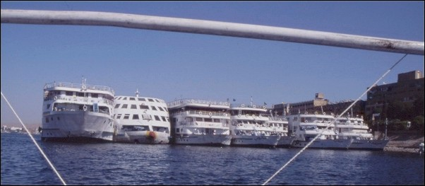 Egypt - Cruise ships on the Nile