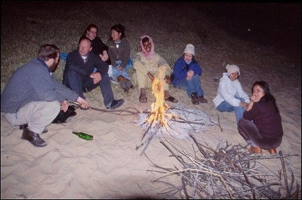 Egypt - New Year's Eve aroud the campfire