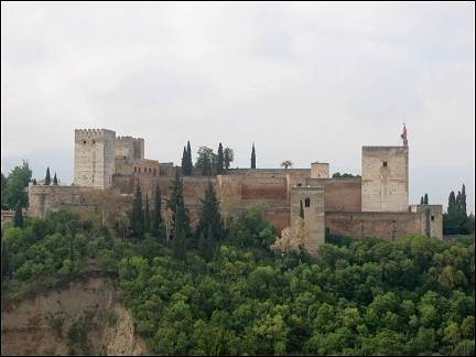 Spain, Andalusia - Granada, view of Alhambra