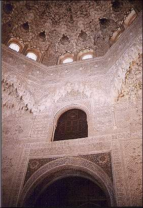 Spain, Andalusia, Granada - The famous ceiling of the Sala de los Abencerrajes