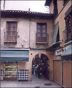 Spain, Andalusia, Granada - The Alcaícería, the old Arabic silk market